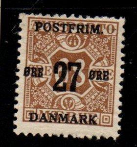 Denmark Sc 142 1918 27 ore overprint on 68 ore newspaper  stamp mint