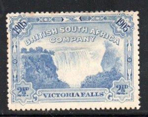 Rhodesia Sc 77 1905  2 1/2d Victoria Falls stamp mint
