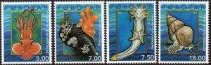 Faroe Islands 2002 #409-12 MNH. Marine life