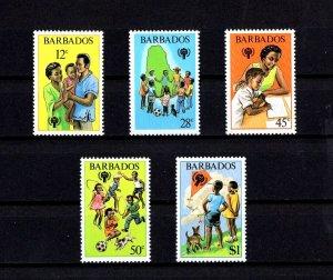 BARBUDA - 1979 - IYC - YEAR OF THE CHILD - PLAYING - MAP - KITE + MINT MNH SET!