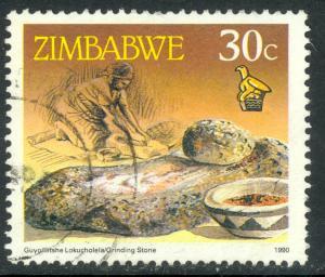 ZIMBABWE 1990 30c GRINDING STONE Pictorial Issue Sc 625 VFU
