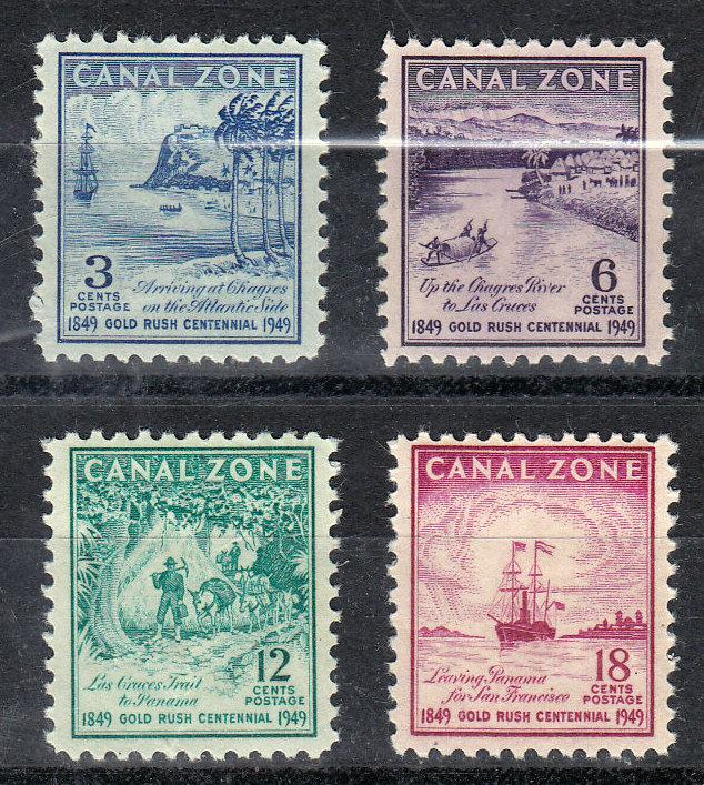 Canal Zone Scott #142-145 MH