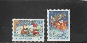 Finland  Scott#  874-5  MNH  (1991 Christmas)