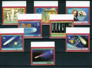 Montserrat 1986 Astronomy HALLEY'S COMET Set (8) Perforated mnh.vf
