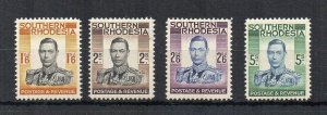 Southern Rhodesia 1937 top 4 values VLMM