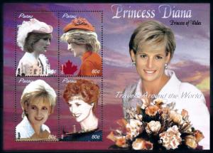 [91835] Palau 2003 Royalty Princess Diana Travels Canada Italy Egypt Sheet MNH