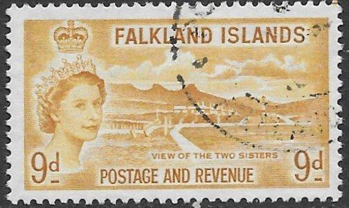 Falklands 126   1957  9d    vf used