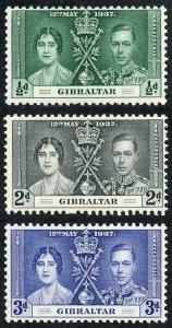 Gibraltar SG118/20 1937 Coronation Fine M/M