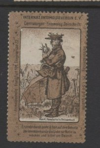 Germany- International Entomologist Association Insects Advertising Stamp NG