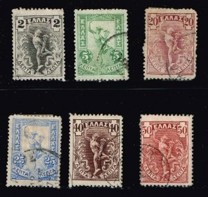 GREECE STAMP 1901 Hermes USED STAMPS LOT