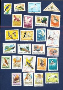 HUNGARY  - mostly MNH large lot - three scans - Birds
