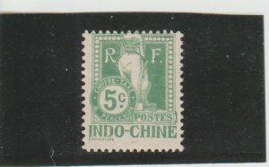 Indo-China  Scott#  J7  MH  (1908 Postage Due)