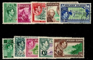 PITCAIRN ISLANDS SG1-8, COMPLETE SET, FINE USED. Cat £30.