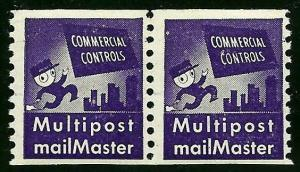 TD91 F-VF Test/Dummy Pair Commercial Controls Multipost Mailmaster MNH