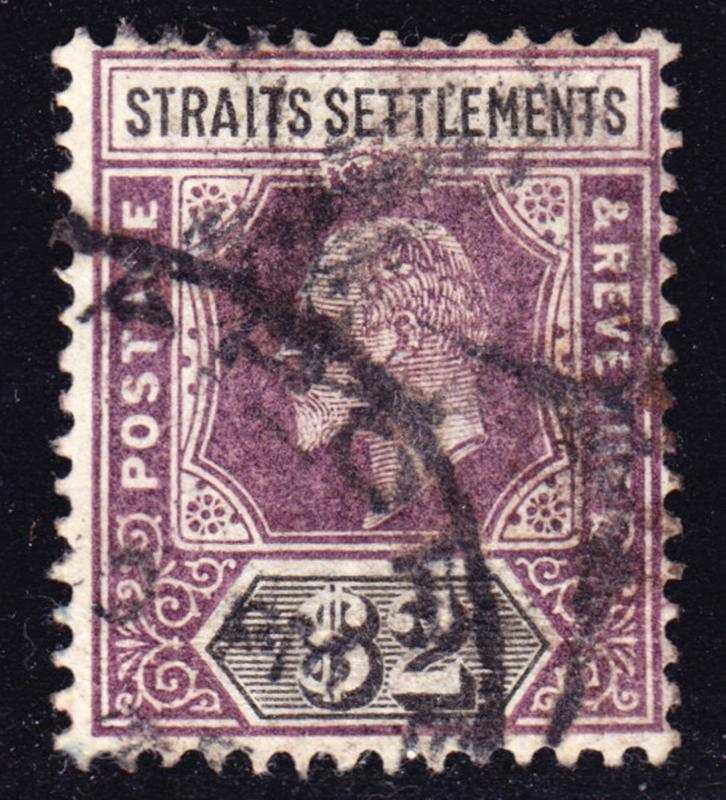 Malaya Straits Settlements Scott 103  wtmk CA  F to VF postally used.