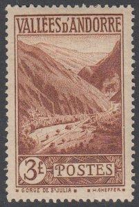 French Andorra 60 MLH CV $14.00