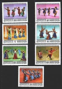 Mongolia. 1977. 1040-46. Folk art. MNH.