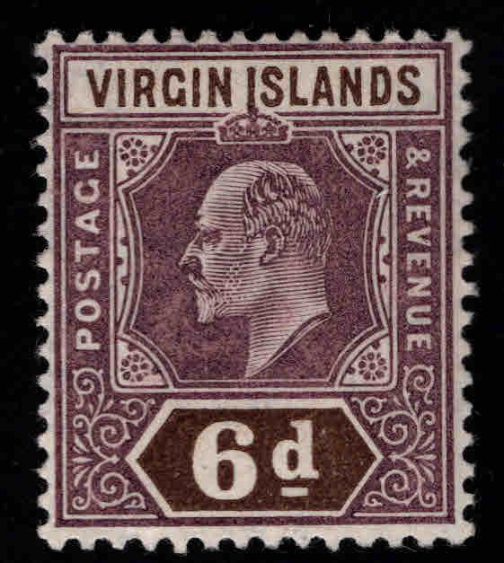 Virgin Islands  Scott 34 MH* KEVII 1904 CV  $4.75