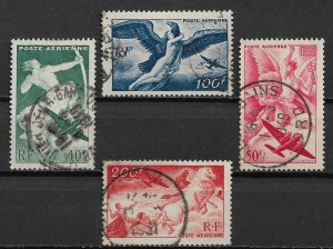 1946-7 France C18-21 complete Airmail set of 4 used SCV$6.00