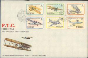 Rhodesia, Worldwide First Day Cover, Aviation