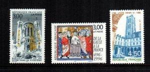 France  2540 - 2542  MNH $ 4.50