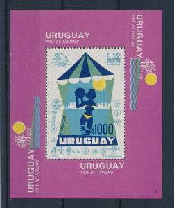 [60820] Uruguay 1974 World Cup Soccer Football Germany Tourism MNH Sheet