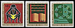 Congo DR 747-749, MNH, Campaign Against Illiteracy