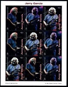 Montserrat 973-75 MNH 1999 Jerry Garcia sheet of 9