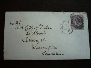 Great Britain - Victorian Cover - Scott#89 - Chelsea to Warrington - 1891