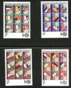Great Britain Scott 859-862 MNH** 1979 Flag set