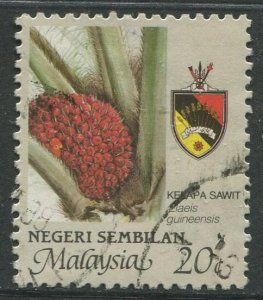STAMP STATION PERTH Negri Sembilan #104 Agriculture Type & State Crest Used 1986