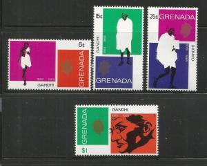 GRENADA, 337-340, MNH ,GANDHI