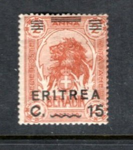 ERITREA 61 MH  Somalia stamp overprinted & Surcharged  - Lion