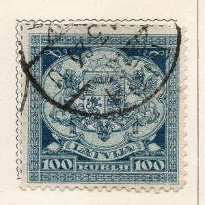 Latvia 1922 Early Issue Fine Used 100r. NW-07379