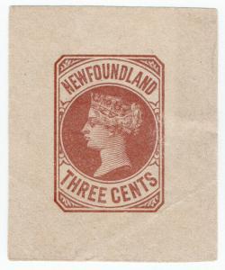 (I.B) Canada Postal : Newfoundland Wrapper 3c
