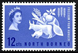 North Borneo 296, MNH. FAO. Freedom from Hunger campaign. Protein Food, 1963