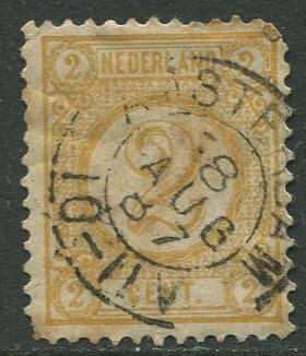 Netherland - Scott 36 - Numerals -1876- Used - Single 2c stamp