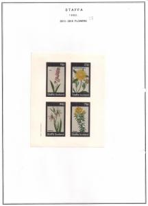 SCOTLAND - STAFFA - 1982 - Flowers #29 - Imperf 4v Sheet - MLH