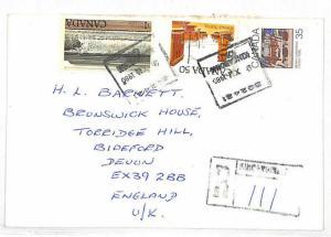 Canada Cover *Kincardine* Registered Mail Devon GB 1980 {samwells-covers}VV95