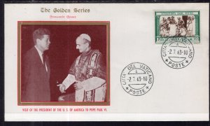 Vatican City President Kennedy Visits Pope Paul VI 1963 Cover