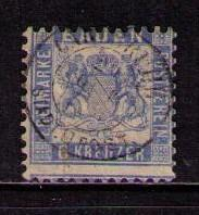 GERMANY BADEN Sc# 22 USED VGF Coat of Arms