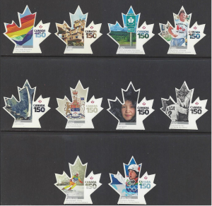 Canada #3000i-09i MNH set die cut, Canada 150 years, various design  issued 2017