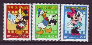 J20465 Jlstamps 2004 france set mnh #3002-4 disney