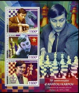 CHAD  2021 70th BIRTH ANNIVERSARY OF ANATOLI KARPOV  SHEET   MINT NH