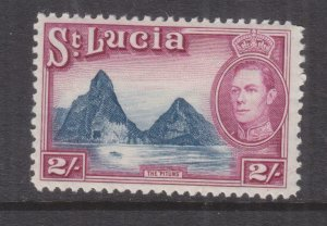St. LUCIA, 1938 KGVI 2s. Blue & Purple, lhm..