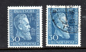 Germany 1951 Rontgen Nobel Prize mint LHM & used #1073 WS16575
