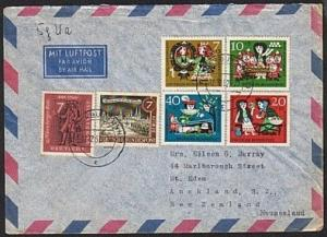 GERMANY 1962 airmail cover to New Zealand - nice franking..................17011
