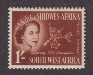 South West Africa 248 Queen Elizabeth II and Flowers 1953