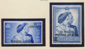 Great Britain, Offices In Morocco Stamps Scott #93 To 94, Mint Hinged - Free ...