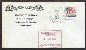 Welcome HMCS Crescent Destroyer 1964 Cover